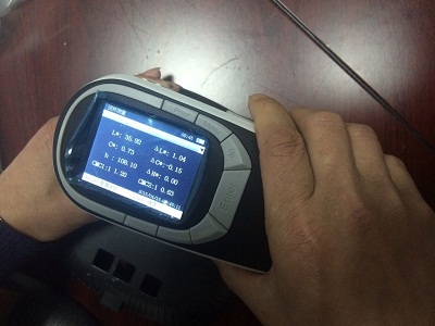 tq6 - Practical application of CS-580 spectrophotometer on painted metal parts